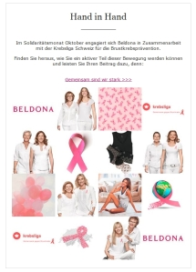 Brustkrebs Aktion